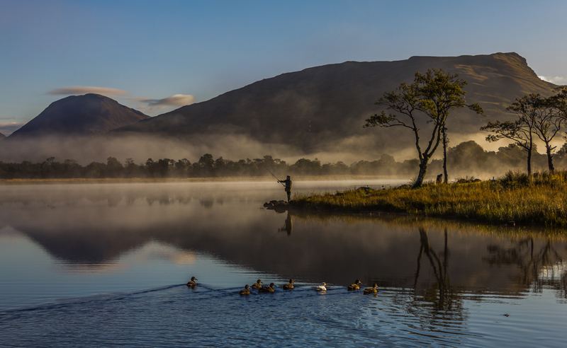 Fisherman at Dawn by Val Stuart